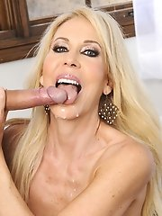 Blonde milf Erica Lauren has hot sex after a room mix up and gets to fuck younger guy.