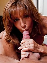 Tara Holiday sucks and fucks a huge cock.